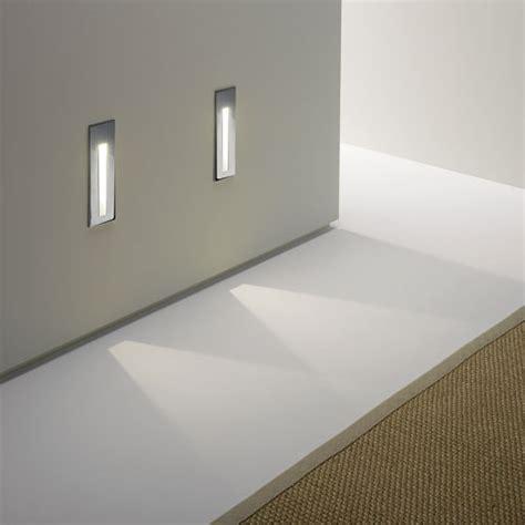 bathroom safe tall recessed led wall light