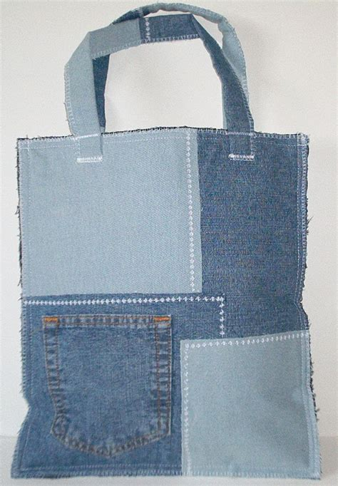 ideas  denim jean purses  pinterest jean