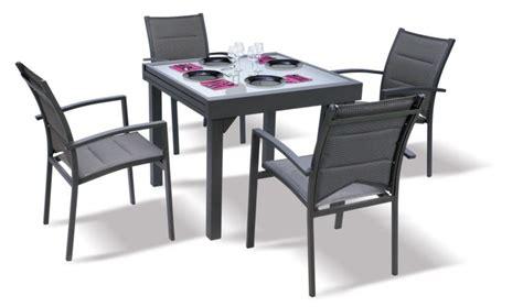 table de jardin carre extensible grise anthracite 4 8 personnes