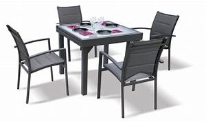 Table De Jardin Extensible : table de jardin carre extensible grise anthracite 4 8 ~ Dailycaller-alerts.com Idées de Décoration