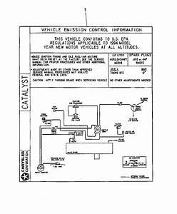 1989 Jeep Cherokee Emission Diagram