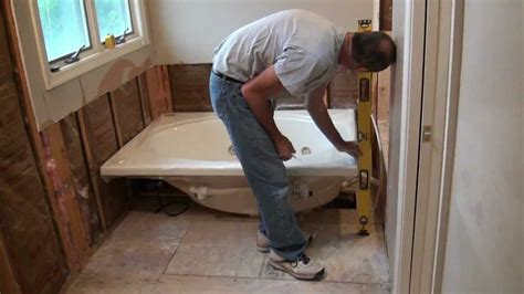 diy bathroom tile ideas installing a whirlpool jet tub part 1
