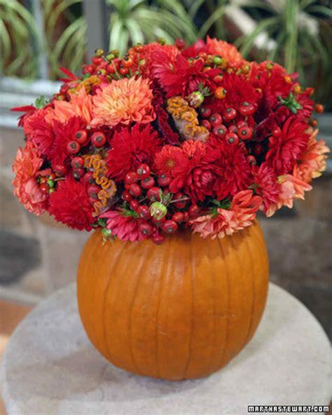 pumpkin vase pumpkin flower vase video martha stewart