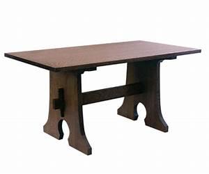 Stickley Keyhole Trestle Table