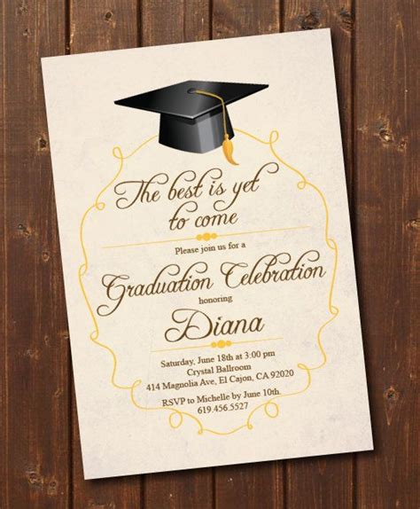 Class of 2020 High School/College Graduation Invitation