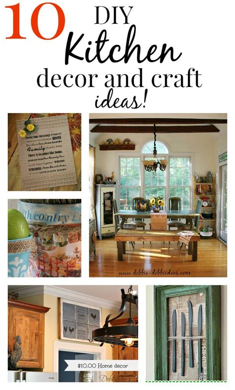 easy diy kitchen craft decor ideas debbiedoos