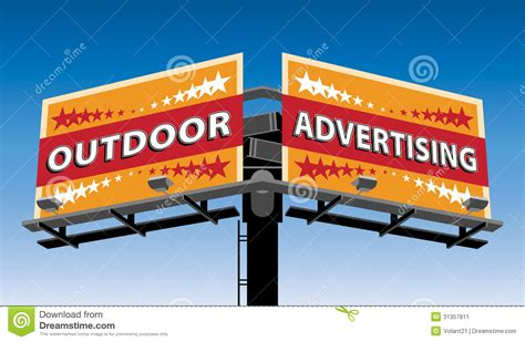 Outdoor Advertising Stock Vector Image Of Template
