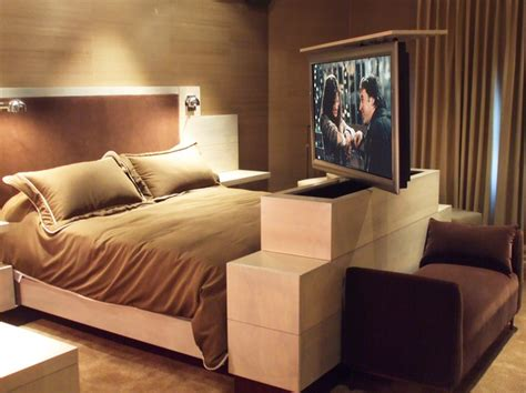 tv lift bedroom furniture tv lifts in furniture contemporary bedroom