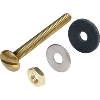 "Toilet Tank Bolts And Nuts 516"" X 3"" Solid Brass Package"