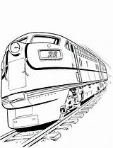 Train Coloring Railroad Diesel Crossing Drawing Truck Freight Template Bullet Trains Sketch Clipartmag Getcolorings Printable Templates sketch template