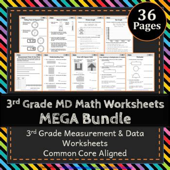 3rd grade measurement data worksheets 3rd grade math
