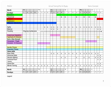 training plan template excel excel templates excel
