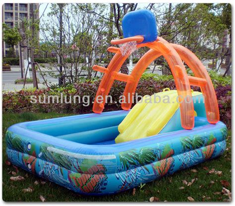 basketball inflatable pool swimming   children