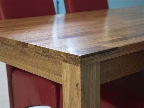 Solid oak butchers block table top design