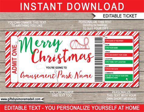 christmas amusement park  template theme park