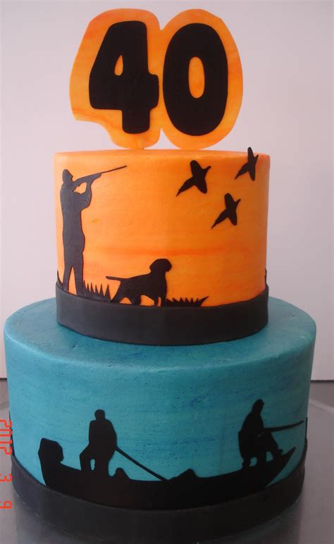 hunting fishing silhouettes st louis custom cakes