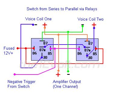 2 Way Gm Window Switch Wiring Diagram by Switching From Series To Parallel And Back Relay Wiring