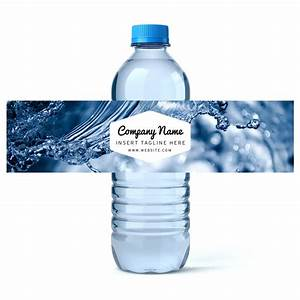 Custom water bottle labels your business logo or design for Custom design water bottles