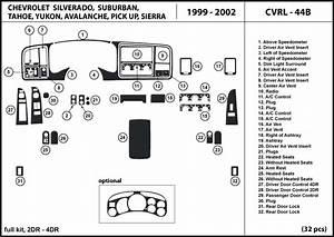 Dash Trim Kit For Chevrolet Silverado 2  4 Doors 99