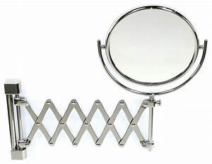Wall mounted brass extendable double face 3x 5x 5xop or for Wall mounted extendable mirror bathroom