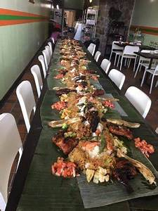 The Boodle Fight table is prepared. - Picture of Alan's ...