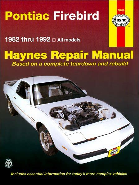 car manuals free online 1999 pontiac firebird spare parts catalogs pontiac firebird trans am s e repair manual 1982 1992
