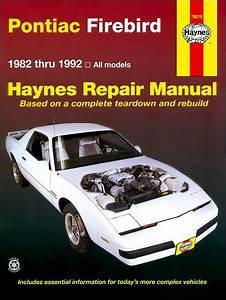 Pontiac Firebird Trans Am S  E Repair Manual 1982