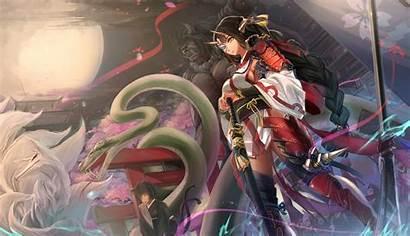 Samurai Anime Armor Oni Demon Katana Wallpapers