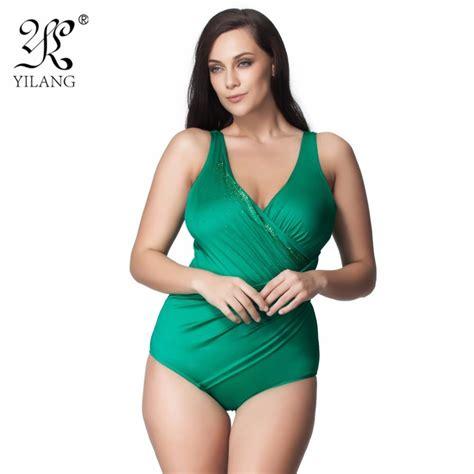 2018 brand mature female plus size swimwear women one