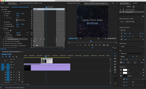 Motion Graphics Template In Adobe Premiere Pro New Motion Graphics Templates Push The Creative Boundaries