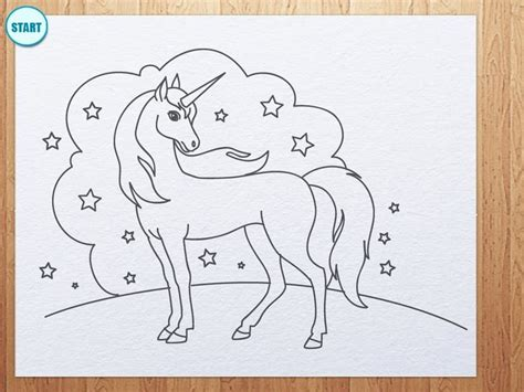 draw unicorn drawing lessons  kids kids art