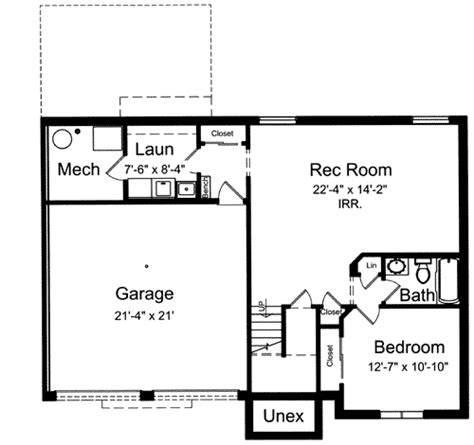 bi level house floor plans bi level home plan 39197st architectural designs