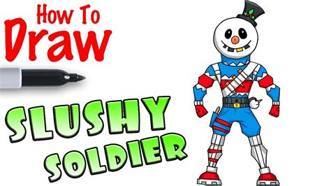 christmas soldier steps to drawyard sign how to draw slushy soldier fortnite