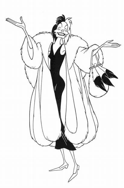 Cruella 101 Dalmatians Deville Clip Coloring Pages