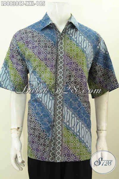 kemeja batik fashion pria gemuk motif terkini bahan katun halus motif keren proses cap tulis