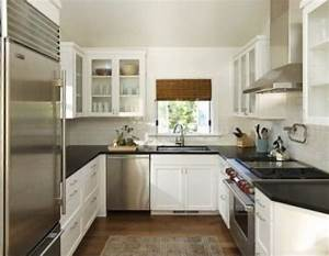 easiest steps to arrange narrow space small kitchen With small u shaped kitchen designs