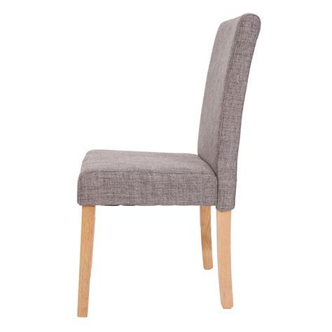 6 chaises de salle a manger lot de 6 chaises de salle à manger en tissu gris pieds