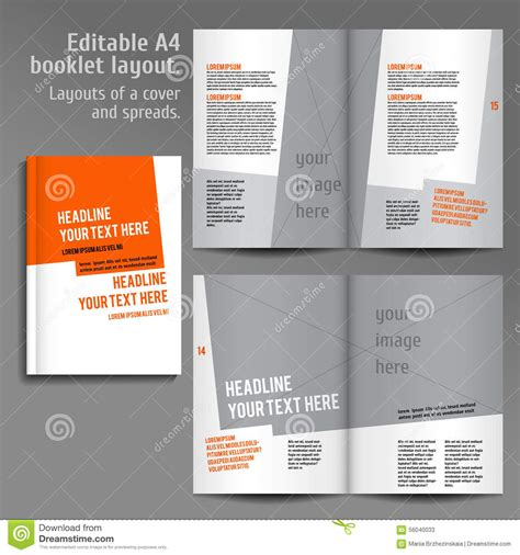 book design templates a4 book layout design template stock vector image 56040033