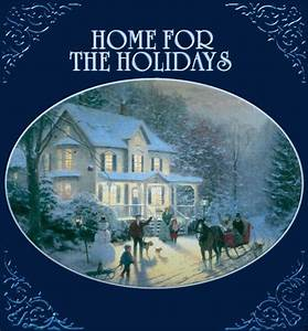 Holiday Party Background Home For The Holidays Thomas Kinkade Various Artists