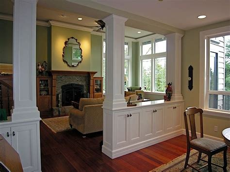 Living Room/dining Room Divider Cabinetry W/storage Basement Photography Studio Types Of Foundations Waterproofing Boston How To Build Stairs With A Landing Column Ideas Framing Wall In Planning Decorating