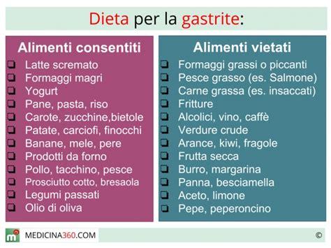 alimentazione per esofagite da reflusso dieta per gastrite cosa mangiare cibi da evitare e