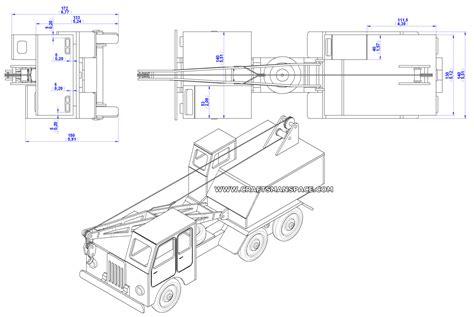 wooden truck crane model plan