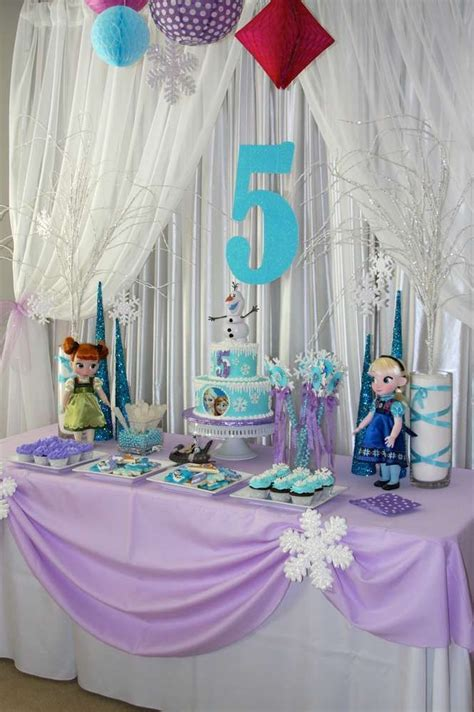 Frozen Birthday Decorations Ideas The Cake Boutique