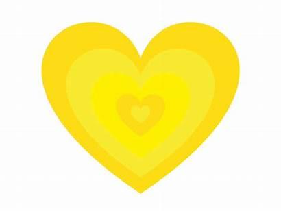 Heart Yellow Corazon Dribbble Amarillo Animation Logodix