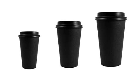 Disposable coffee cup size allow for many stylish variations and can help express one's personality as well as to advertise particular logos choose from the vast collections of desirable disposable coffee cup size available on alibaba.com. Black Takeaway Paper Coffee Cup Different Sizes Stock Photo - Download Image Now - iStock