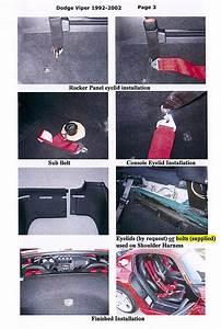 Dodge Viper 5pt 6pt Racing Harness Seat Belt Instructions