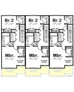 House Plans Narrow Lots Amazingplans Multi Plex Plan Db7228 Triplex