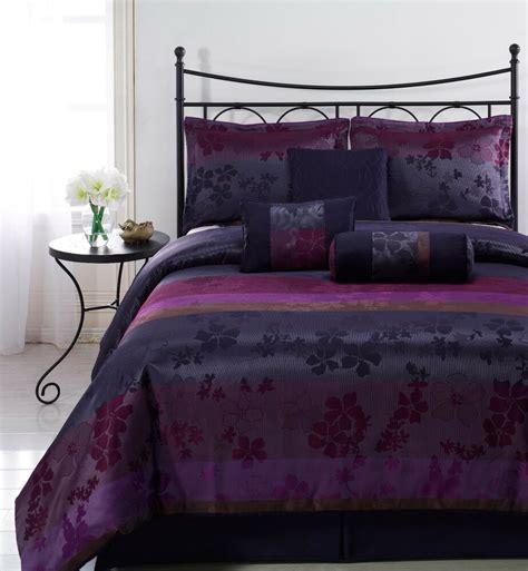 Comforter Sets Size For - liz 7pc jacquard multi purple color comforter set