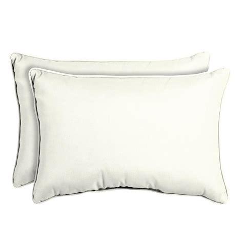 white outdoor pillows home decorators collection sunbrella canvas white