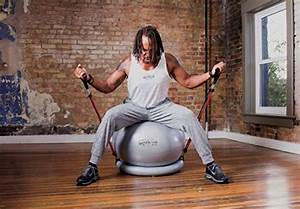 NEW 600lb Anti Burst Stability Exercise Ball with Latex Resistance Bands Pump - eBay Balls and Bands